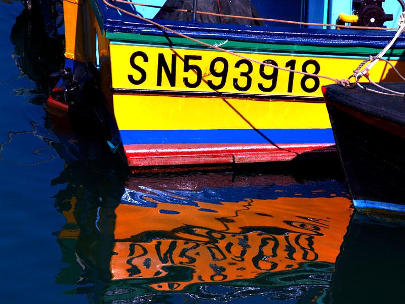 Reflet bateau de pêche